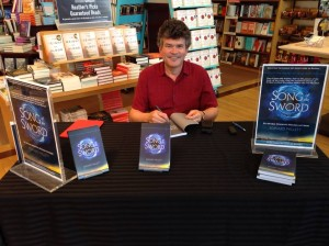 Signing Song of the Sword at Chapters Regina